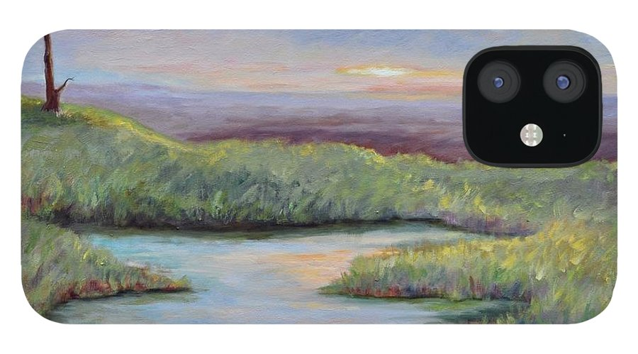 Lone Trees IPhone 12 Case featuring the painting Soledad by Ginger Concepcion