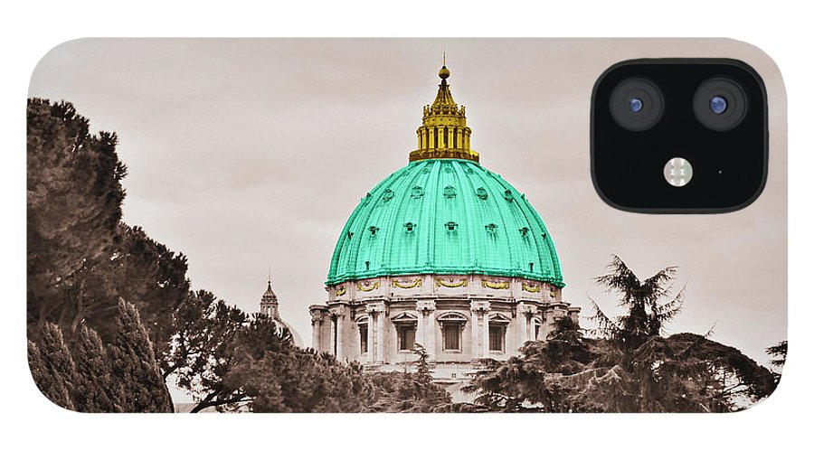 Saint IPhone 12 Case featuring the photograph St. Peters Basilica by Eric Liller