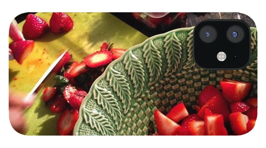 IPhone 12 Case featuring the photograph Strawberries by Juan Silva