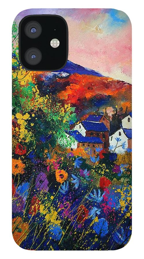 Landscape IPhone 12 Case featuring the painting Summer by Pol Ledent