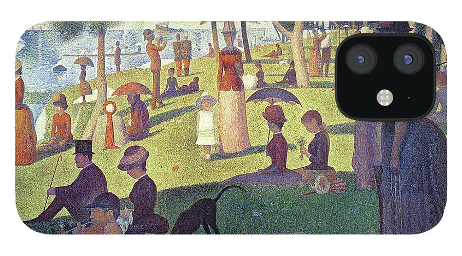 Sunday Afternoon On The Island Of La Grande Jatte IPhone 12 Case featuring the painting Sunday Afternoon on the Island of La Grande Jatte by Georges Pierre Seurat