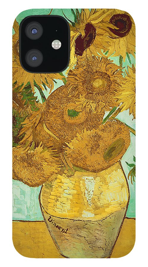 Sunflowers IPhone 12 Case featuring the painting Sunflowers by Van Gogh by Vincent Van Gogh