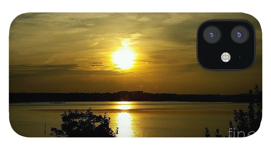 Photo IPhone 12 Case featuring the photograph Sunset over the Potomac by Jimmy Clark