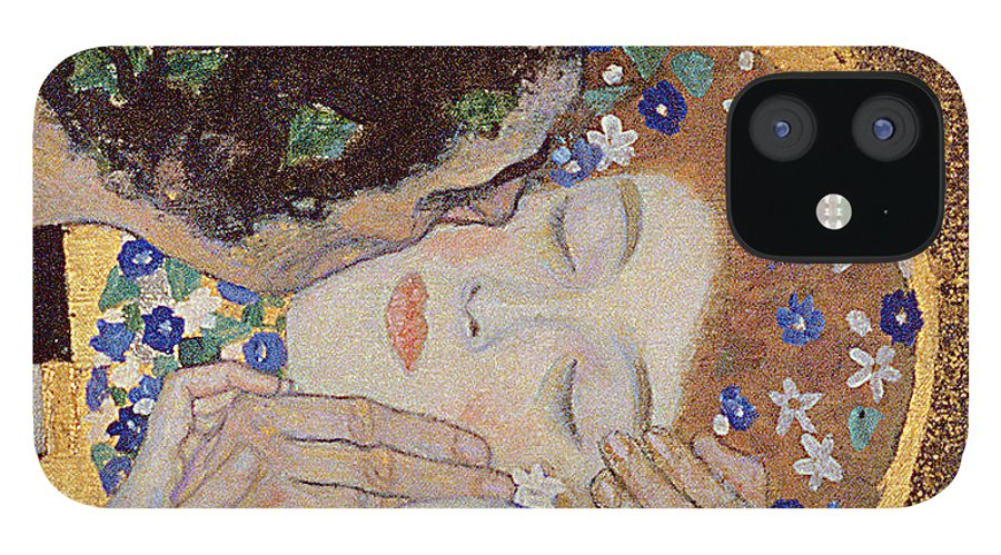 Klimt IPhone 12 Case featuring the painting The Kiss by Gustav Klimt