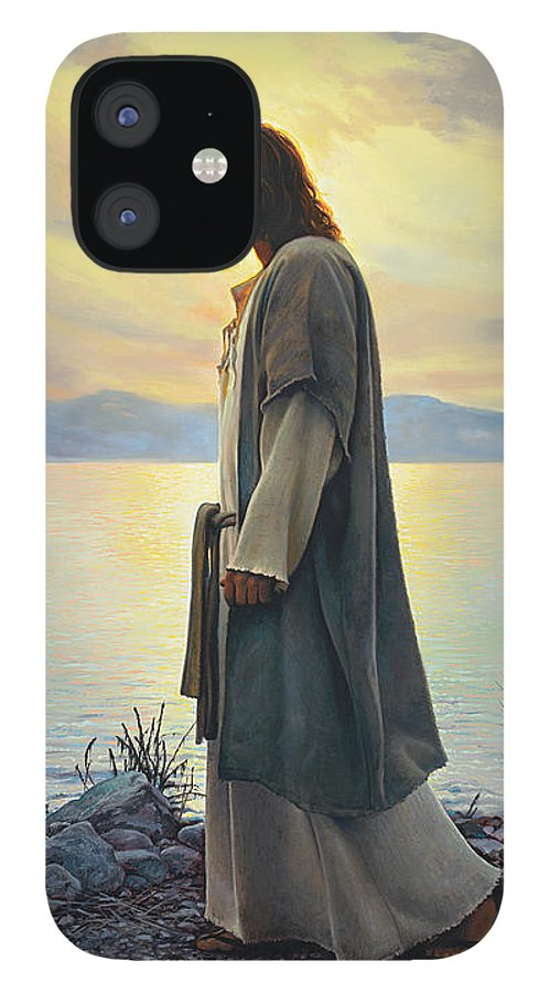 Jesus IPhone 12 Case featuring the painting Walk with Me by Greg Olsen