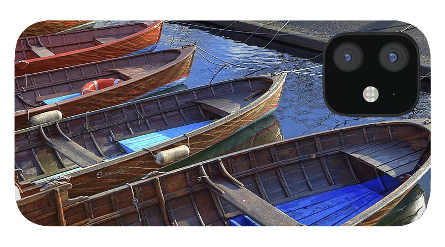 Boat IPhone 12 Case featuring the photograph Wooden Boats by Joana Kruse