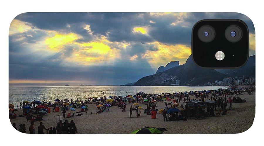 Ipanema IPhone 12 Case featuring the photograph Ipanema Beach by Cesar Vieira