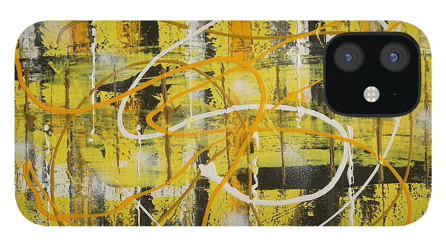 Abstract IPhone 12 Case featuring the painting Abstract_untitled by Jimmy Clark