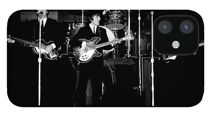 Beatles IPhone 12 Case featuring the photograph Beatles In Concert 1964 by Larry Mulvehill