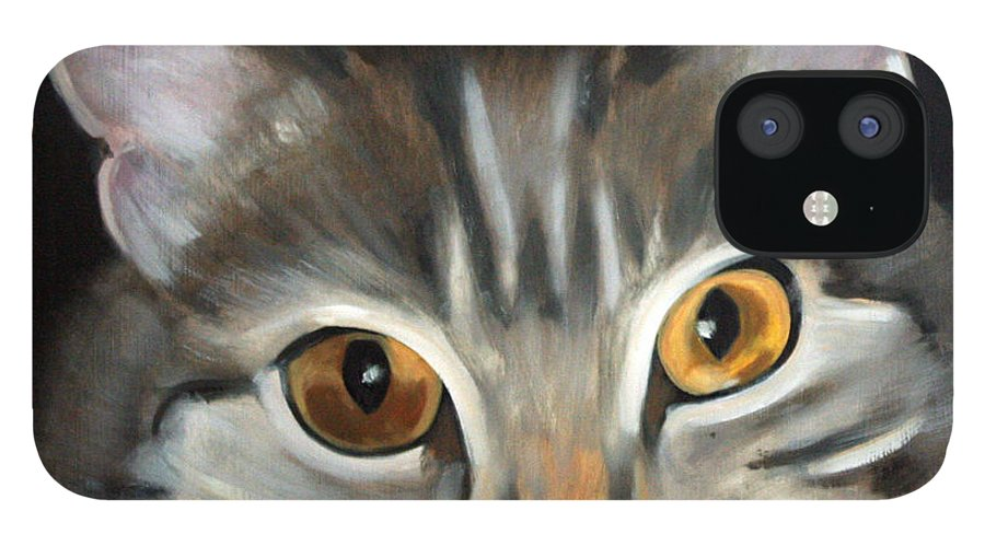 Portrait IPhone 12 Case featuring the painting Bonnie by Fiona Jack