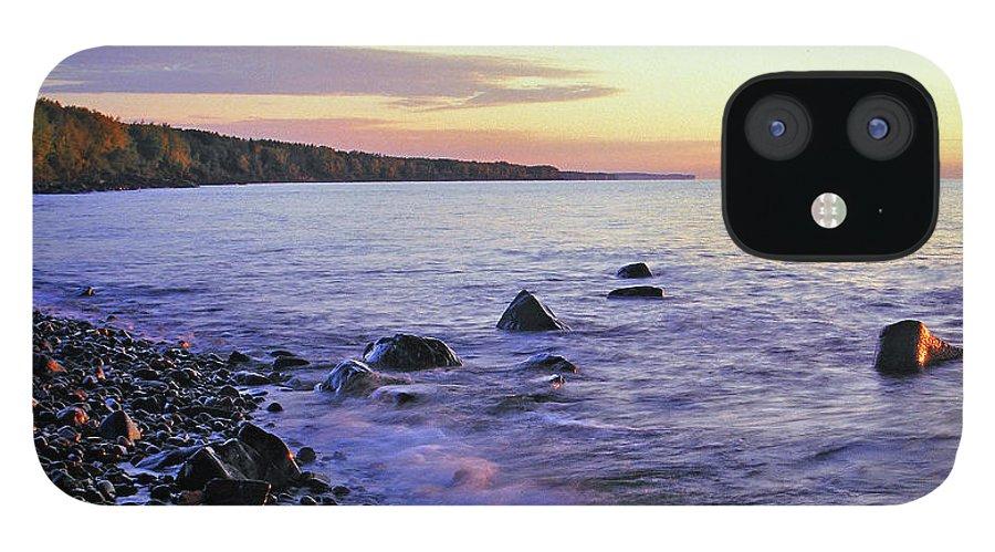 Rocky Beach iPhone 12 Case featuring the photograph Brighton Beach Sunrise by Bill Morgenstern