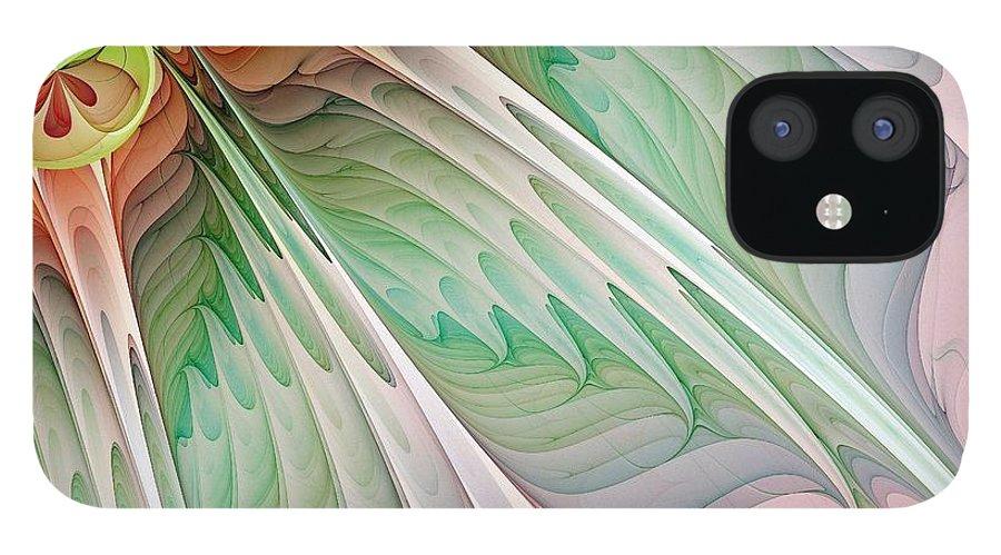 Digital Art iPhone 12 Case featuring the digital art Petals by Amanda Moore