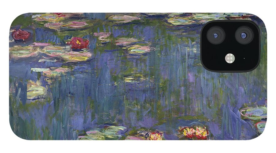 Monet IPhone 12 Case featuring the painting Water Lilies, 1916 by Claude Monet