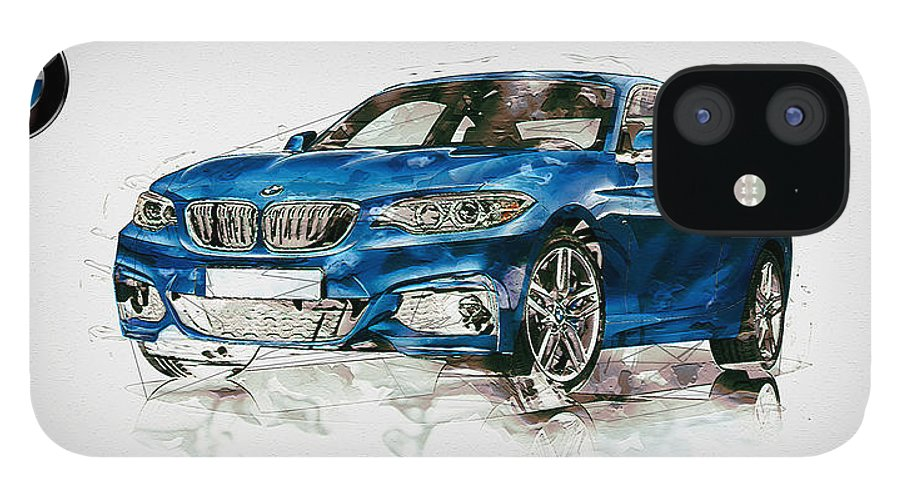 Wheels Of Fortune By Serge Averbukh IPhone 12 Case featuring the photograph 2014 B M W 2 Series Coupe With 3d Badge by Serge Averbukh