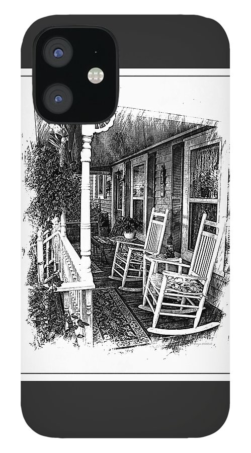 Rocking Chair IPhone 12 Case featuring the photograph Rockers on the Porch by Margie Wildblood