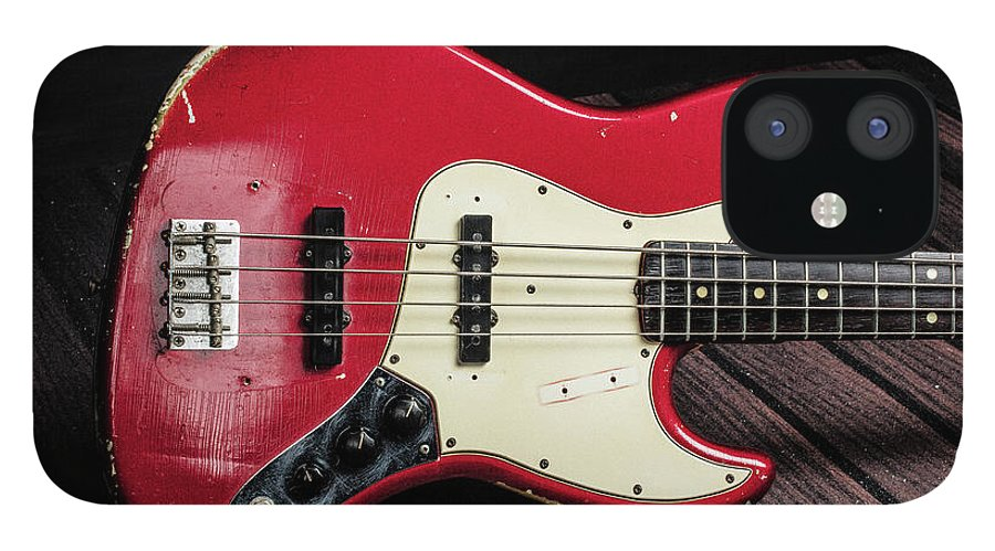305.1834 Fender Red Jazz Bass 1965 in Color IPhone 12 Case