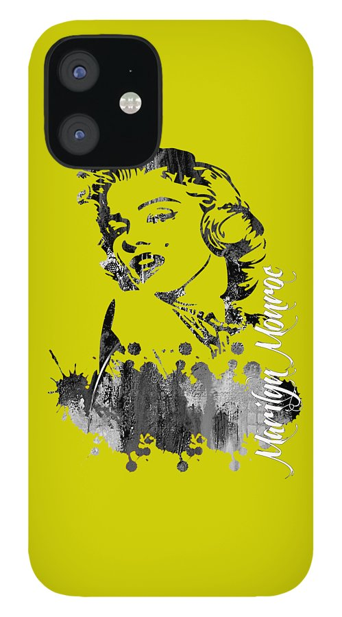 Marilyn Monroe IPhone 12 Case featuring the mixed media Marilyn Monroe Collection by Marvin Blaine