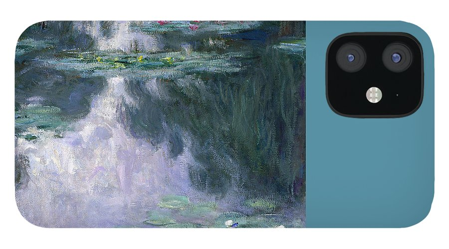 Nympheas IPhone 12 Case featuring the painting Waterlilies by Claude Monet