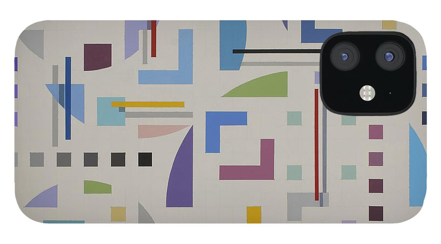Optical Illusion Geometric Painting iPhone 12 Case featuring the painting Untitled 8 by Marston A Jaquis