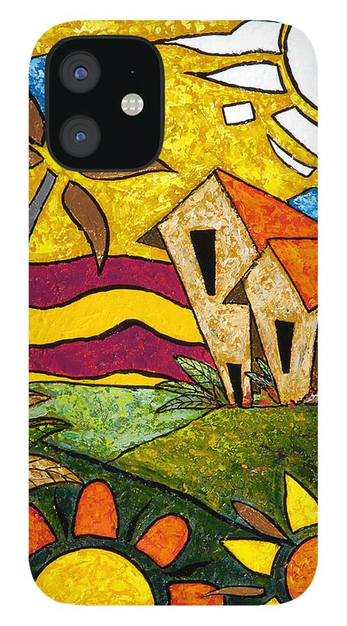 Puerto Rico IPhone 12 Case featuring the painting A Beautiful Day by Oscar Ortiz