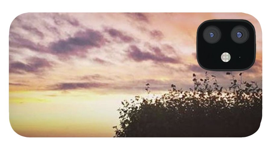 Norfolklife IPhone 12 Case featuring the photograph A Beautiful Morning Sky At 06:30 This by John Edwards