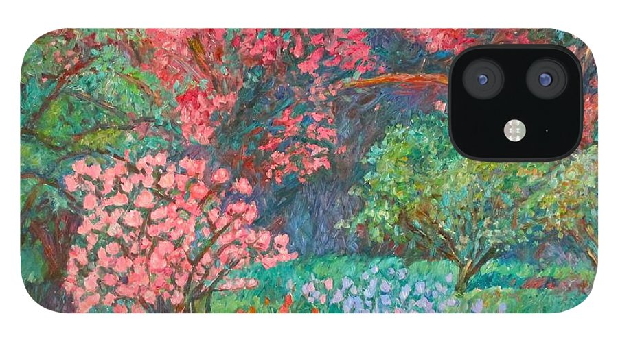 Landscape IPhone 12 Case featuring the painting A Memory by Kendall Kessler