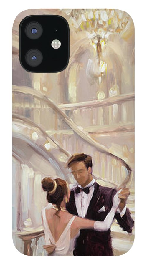 Romance IPhone 12 Case featuring the painting A Moment in Time by Steve Henderson