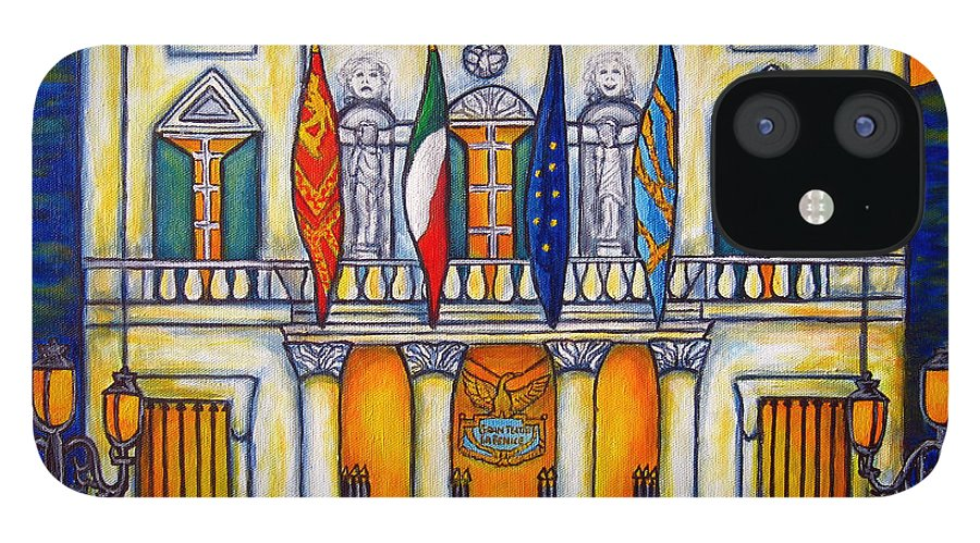 Theatre IPhone 12 Case featuring the painting A Night at the Fenice by Lisa Lorenz