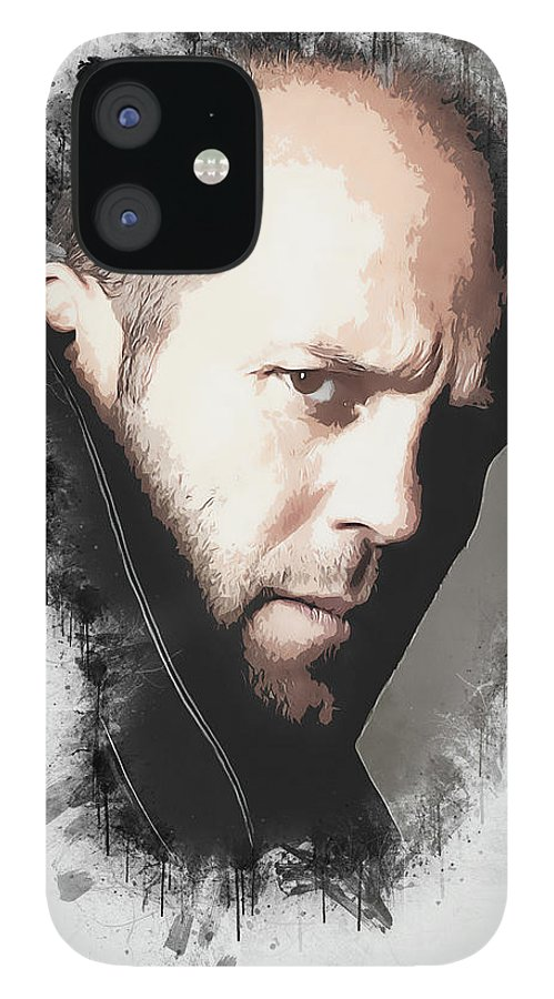 Movies IPhone 12 Case featuring the digital art A Tribute to JASON STATHAM by Dusan Naumovski
