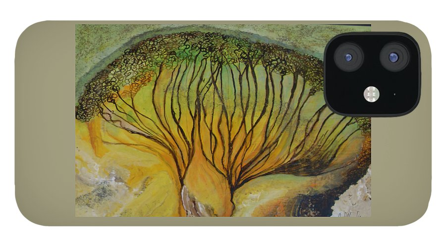 IPhone 12 Case featuring the painting AA dream by Carol P Kingsley