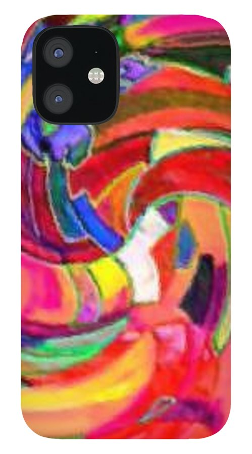 Digital Image IPhone 12 Case featuring the digital art AB by Andrew Johnson