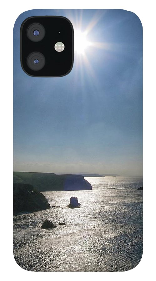 Cornwall IPhone 12 Case featuring the photograph Above Portreath by Scott Waters