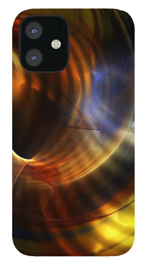 Fine Art IPhone 12 Case featuring the digital art Abstract 040511 by David Lane