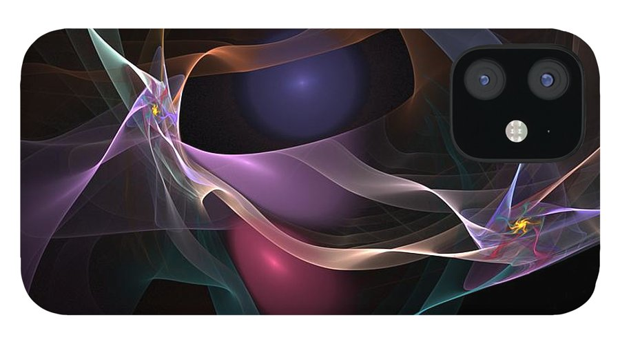 Fine Art IPhone 12 Case featuring the digital art Abstract 062310 by David Lane