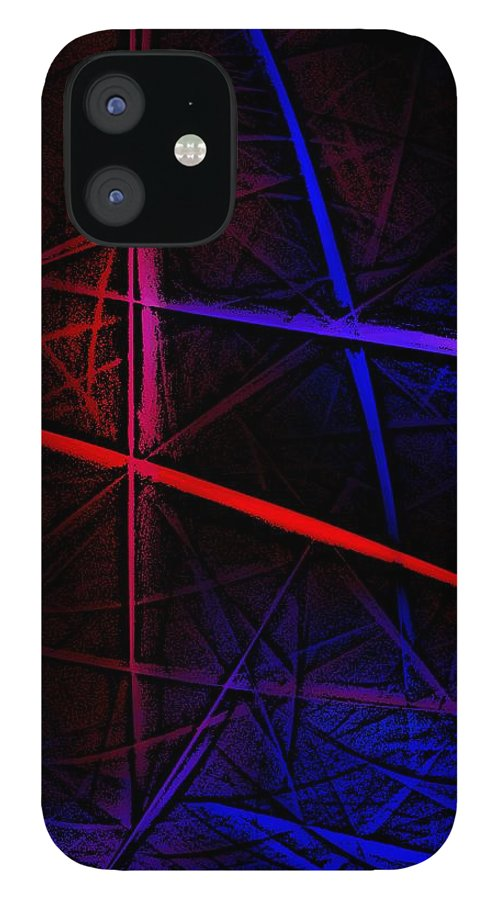 Abstract IPhone 12 Case featuring the digital art Abstract 081410 by David Lane
