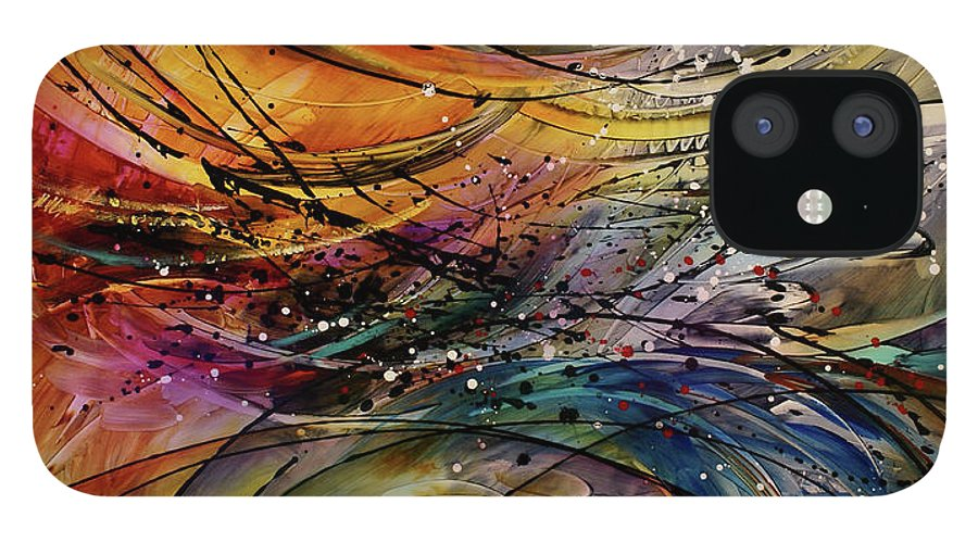 Abstract Art iPhone 12 Case featuring the painting Abstract by Michael Lang