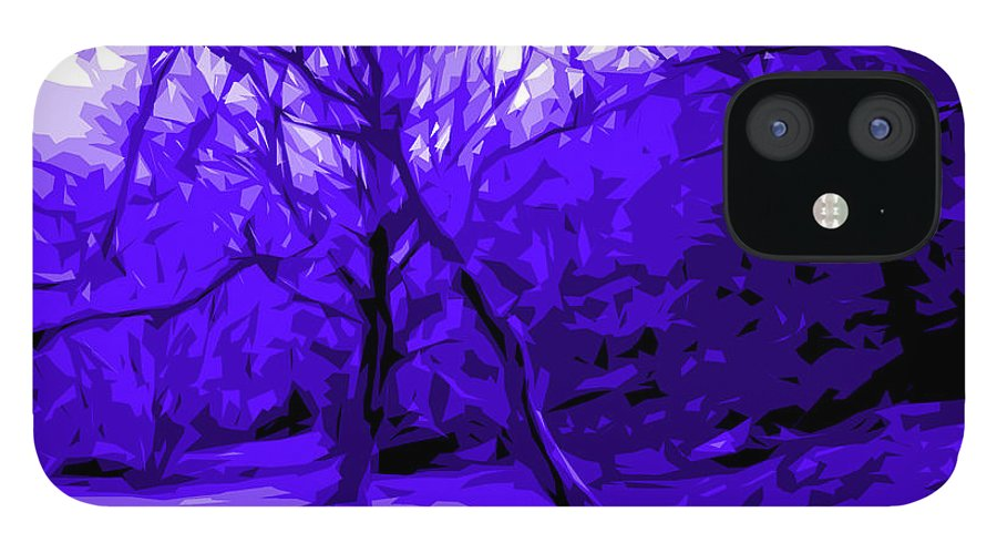 Abstract Landscape IPhone 12 Case featuring the digital art Abstract Sanctuary by Jacqueline Milner