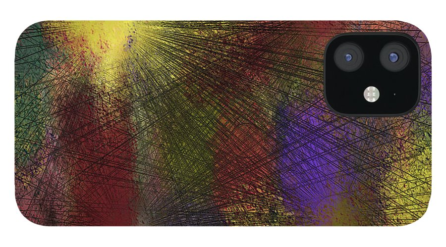 Digital IPhone 12 Case featuring the digital art Abstraktion in Farben by Ilona Burchard