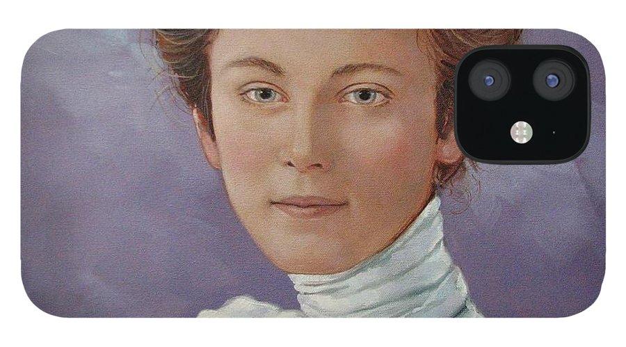 Posthumous Portrait IPhone 12 Case featuring the painting Ada Douglas by Jerrold Carton