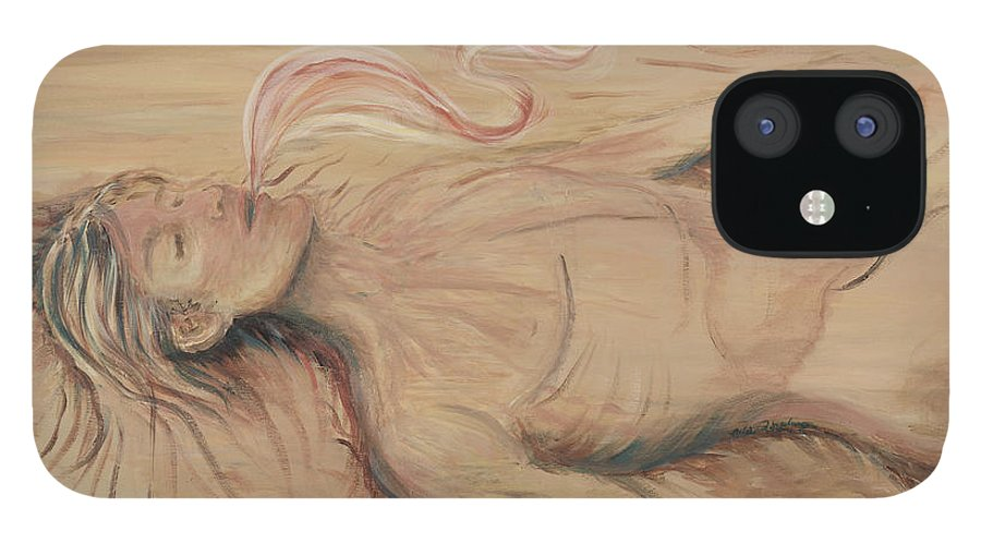 Adam IPhone 12 Case featuring the painting Adam and the Breath of God by Nadine Rippelmeyer