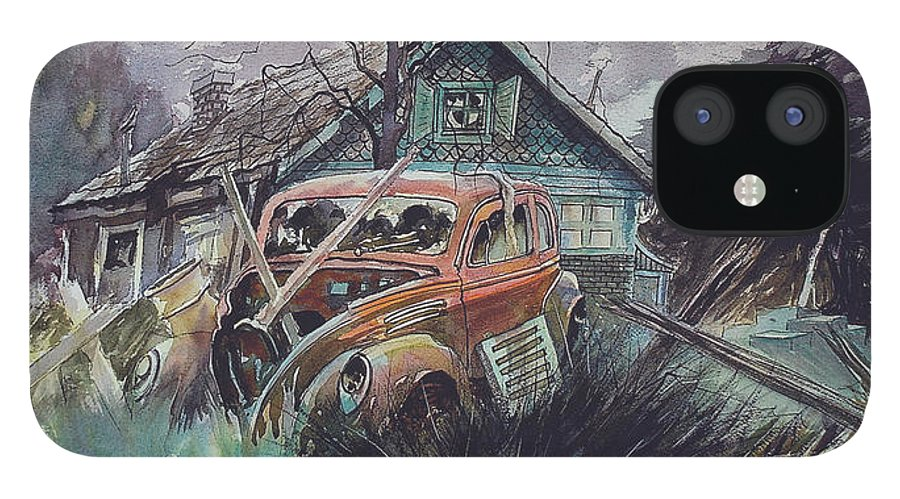 Ford IPhone 12 Case featuring the painting Affordable by Ron Morrison