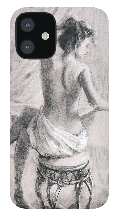 Bath IPhone 12 Case featuring the painting After the Bath by Steve Henderson