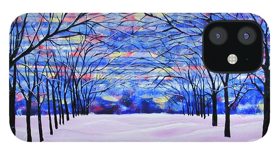 Landscape IPhone 12 Case featuring the painting After The Snow by Rollin Kocsis