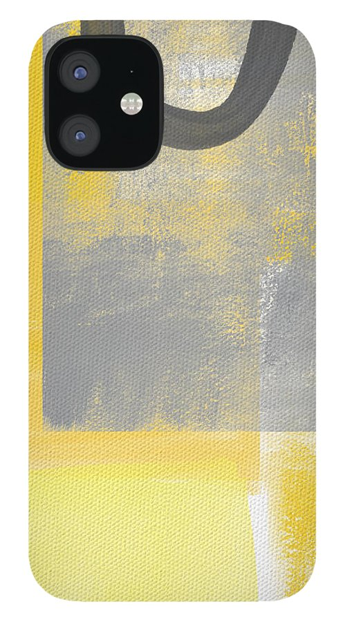 Yellow IPhone 12 Case featuring the painting Afternoon Sun and Shade by Linda Woods