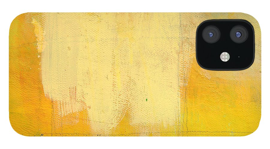 Abstract IPhone 12 Case featuring the painting Afternoon Sun -Large by Linda Woods