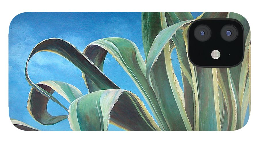Floral Painting IPhone 12 Case featuring the painting Agave by Muriel Dolemieux