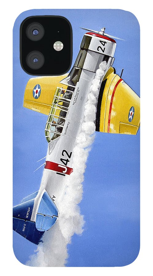 Military IPhone 12 Case featuring the painting Air Show by Marc Stewart