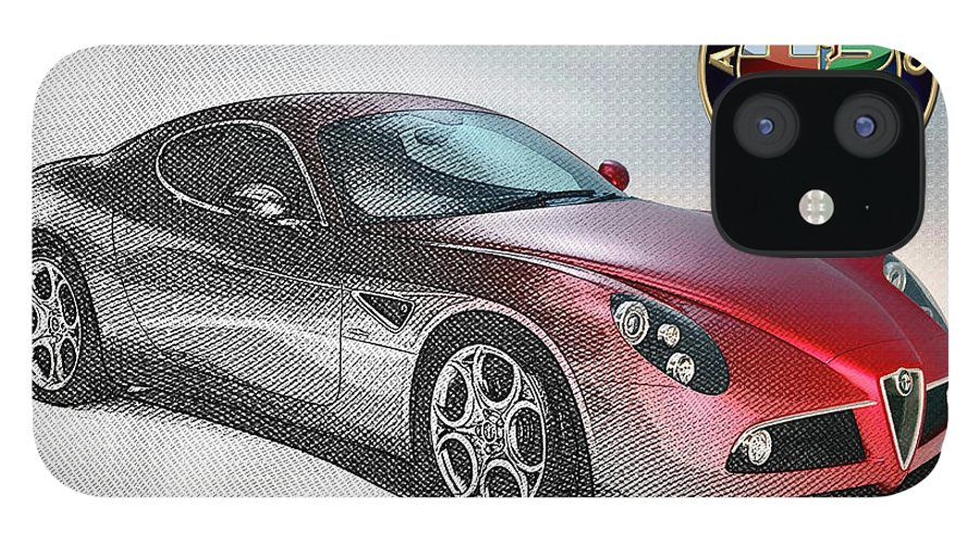 Wheels Of Fortune By Serge Averbukh IPhone 12 Case featuring the photograph Alfa Romeo 8C Competizione by Serge Averbukh