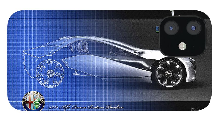 Wheels Of Fortune By Serge Averbukh IPhone 12 Case featuring the photograph Alfa Romeo Bertone Pandion Concept by Serge Averbukh