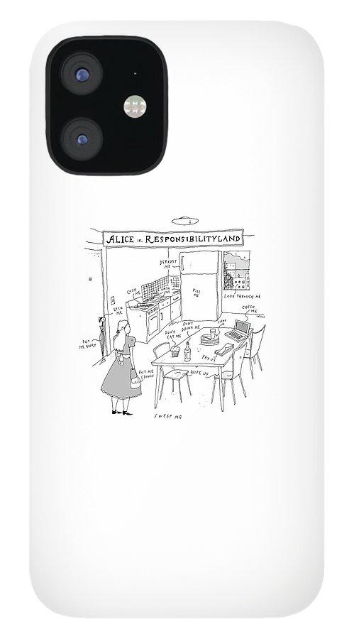 Alice In Responsibilityland IPhone 12 Case